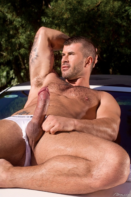 Adam Killian and Lucas Young tattoed muscle boys 001 Ripped Muscle Bodybuilder Strips Naked and Strokes His Big Hard Cock for at Falcon Studios photo1 - Adam Killian and Lucas Young at Falcon Studios