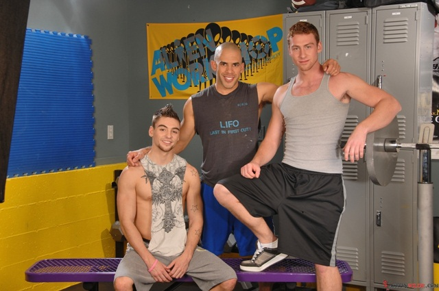 Austin Wilde Johnny Torque Connor Maguire gym threesome 001 Young nude Boy Twink Strips Naked and Strokes His Big Hard Cock for at Austin Wilde photo1 - Austin Wilde, Johnny Torque and Connor Maguire, gym threesome!