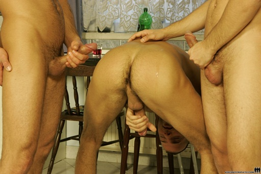 Viconti Triplets trio gay porn orgy004 Young nude Boy Twink Strips Naked and Strokes His Big Hard Cock for at photo1 - Visconti Triplets and Joe Justice in hot triplet orgy!