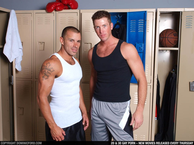 Chris Tyler and Tanner Wayne at Dominic Ford 1 Ripped Muscle Bodybuilder Strips Naked and Strokes His Big Hard Cock photo1 - Chris Tyler and Tanner Wayne at Dominic Ford