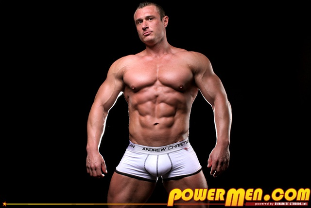Muscle hunk Carl Payne at Powermen 1 Ripped Muscle Bodybuilder Strips Naked and Strokes His Big Hard Cock photo1 - Muscle hunk Carl Payne at Powermen