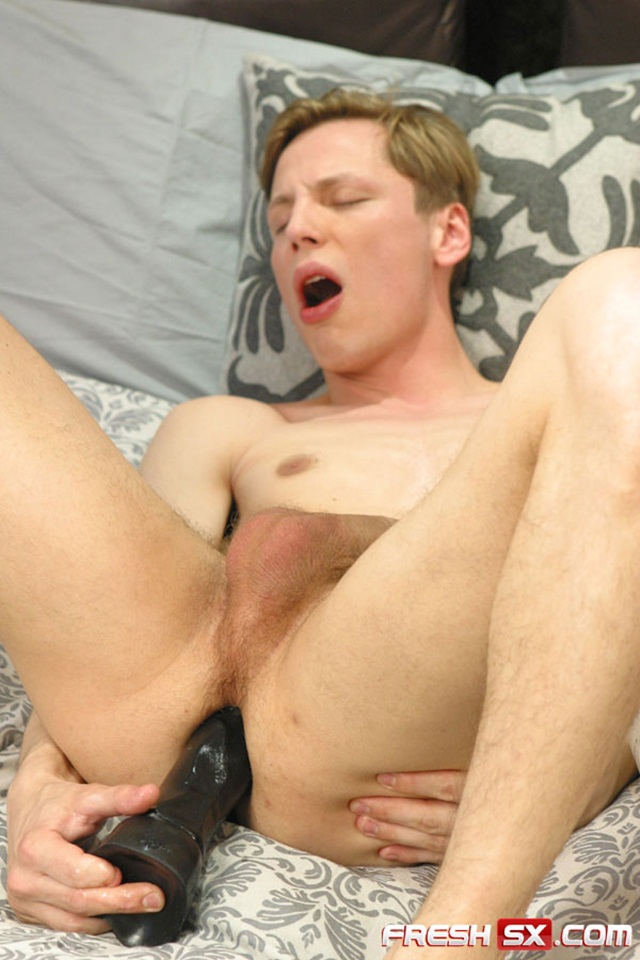 """Young man Joshua Webber takes a 11 inch black dildo at FreshSX 2 Young nude Boy Twink Strips Naked and Strokes His Big Hard Cock photo1 - Young man Joshua Webber takes a 11"""" black dildo at FreshSX"""