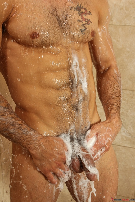 Austin Wilde showers and plays with his hairy ass then jerks a huge cumshot 02 Ripped Muscle Bodybuilder Strips Naked and Strokes His Big Hard Cock photo1 - Austin Wilde showers and plays with his hairy ass then jerks a huge cumshot