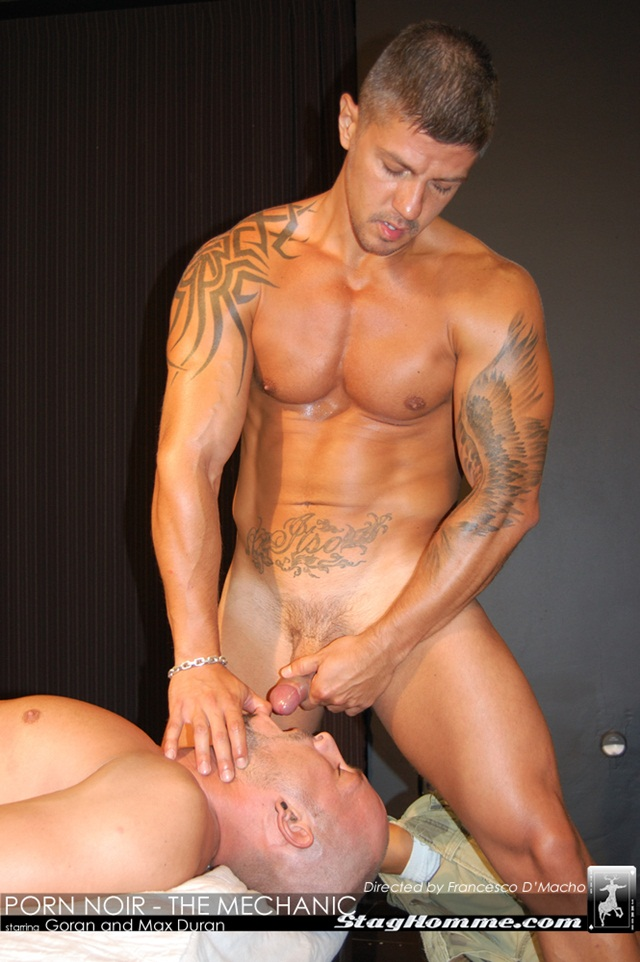 Goran and Max Duran at stag homme 02 Ripped Muscle Bodybuilder Strips Naked and Strokes His Big Hard Cock torrent photo1 - Goran and Max Duran