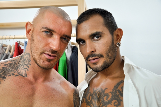Lucio Saints and Francesco DMacho at the Gay Office men in suits 02 Ripped Muscle Bodybuilder Strips Naked and Strokes His Big Hard Cock torrent photo1 - Lucio Saints and Francesco D'Macho