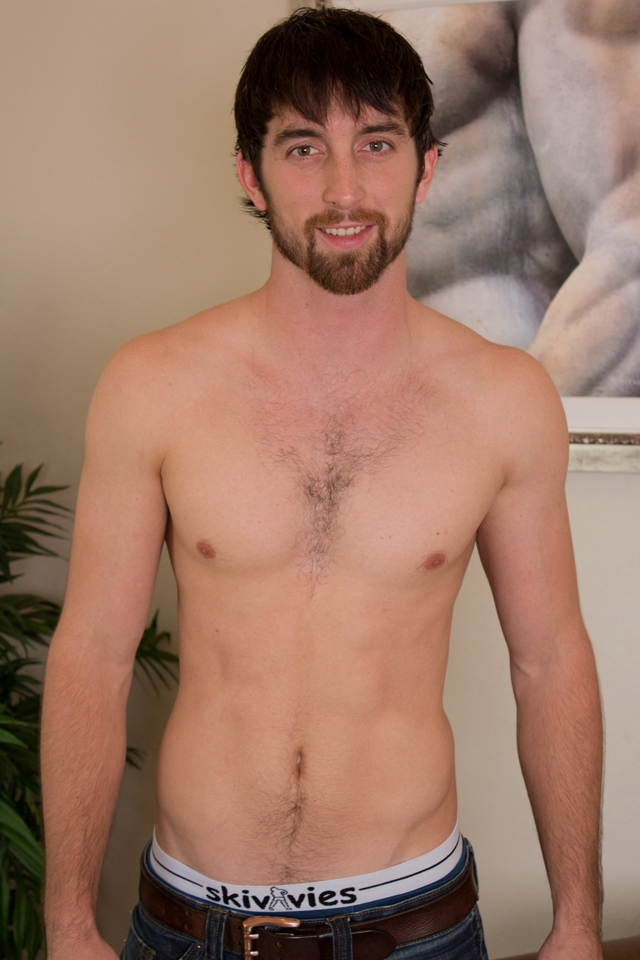 Hairy chest hunk Jeremy Stone jerks his big cock Southern Strokes 01 photo - Hairy chest hunk Jeremy Stone at Southern Strokes