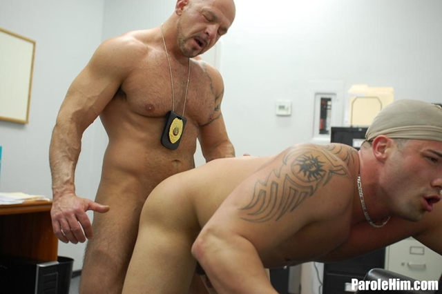 Parole Him Benny G takes a Parole Officers fat cock 08 gay porn pics photo - Benny G takes a Parole Officers fat cock