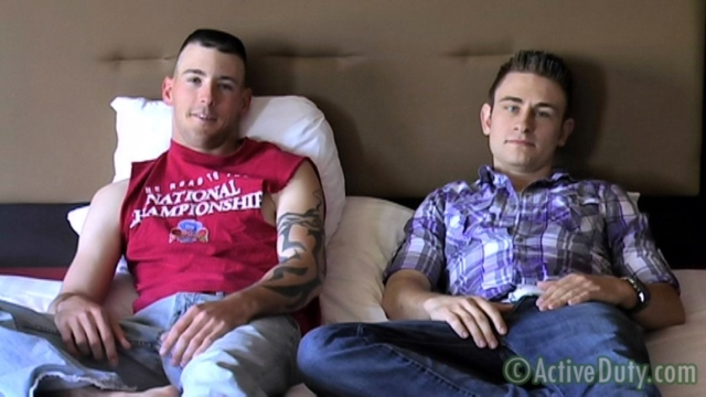 Danny and Bryce Active Duty gay military porn soldier sex marine sailor guys fuck anal ass naked armyboy 01 pics gallery tube video photo - Danny and Bryce