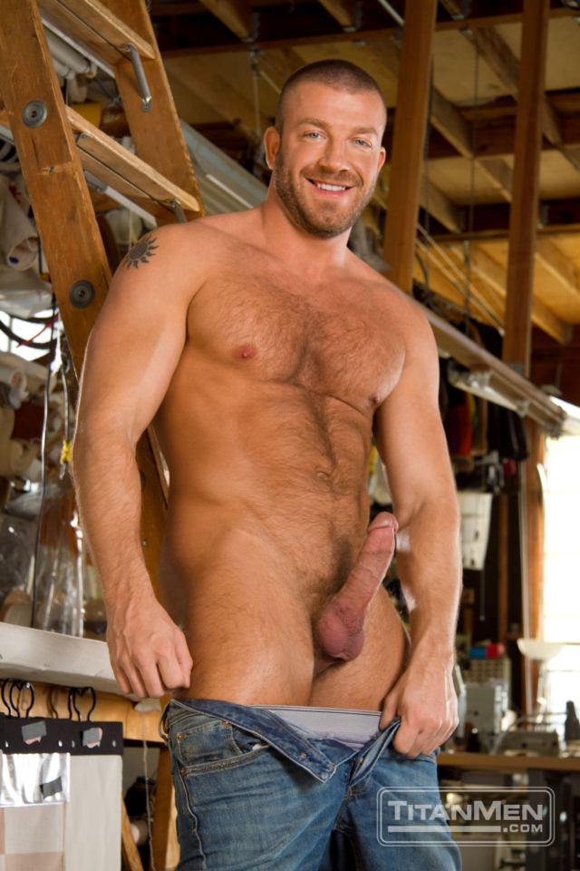 Landon Conrad and Hunter Marx Titan Men gay porn stars rough older men anal sex muscle hairy guys muscled hunks 02 gallery video photo - Landon Conrad and Hunter Marx