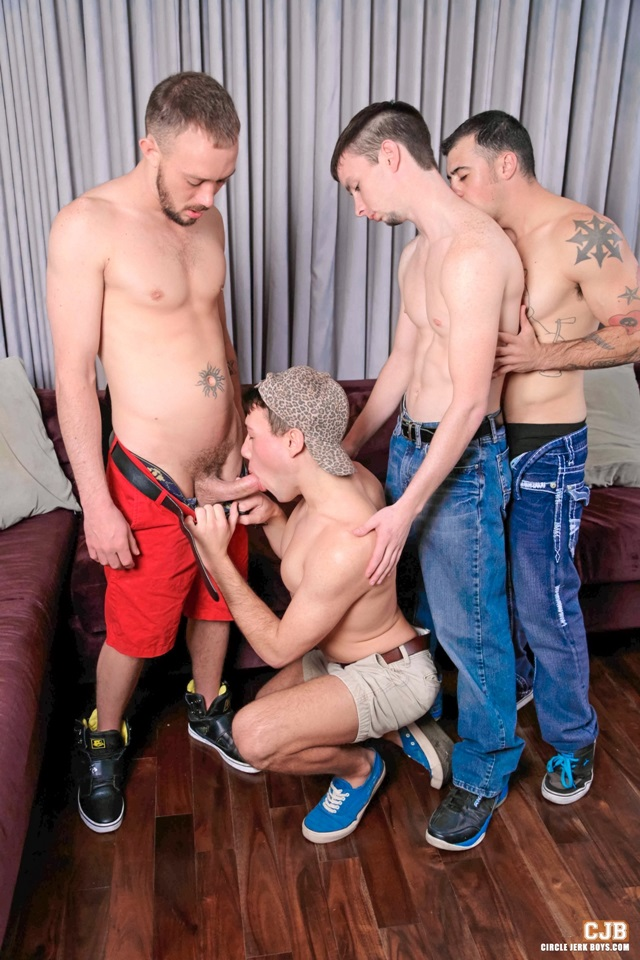 Blake Stone and Jake Jammer Circle Jerk Boys Gay Porn Star young dude naked stud nude guys jerking huge cock cum orgasm 002 gallery video photo - Blake Stone and Jake Jammer