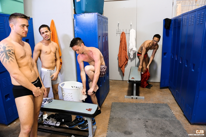 CircleJerkBoys Trent Jackson Leo Sweetwood Jonathan Cordona locker room Santiago Figueroa hung dick load cum smooth college jock 001 tube download torrent gallery photo - Trent Jackson, Santiago Figueroa, Leo Sweetwood and Jonathan Cordona