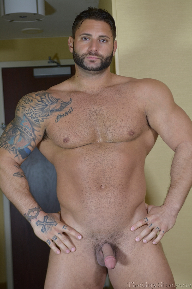 TheGuySite Mike Buffalari naked bodybuilding 29 years old big muscle hunk bigger beefier V Shaped torso huge thighs shape 002 tube download torrent gallery photo - Mike Buffalari