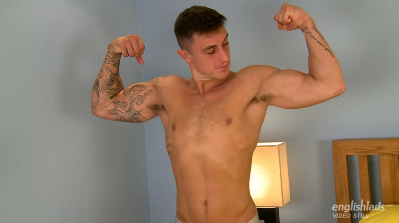 EnglishLads Max Henderson muscle sexy tattoo hairy chest boxers bum balls big uncut cock shoots big load tensed abs straight boy 001 tube download torrent gallery photo - Max Henderson