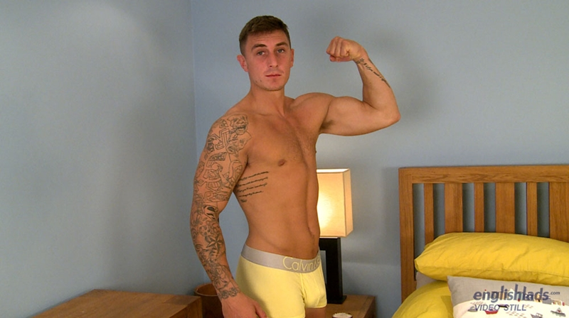 EnglishLads Max Henderson muscle sexy tattoo hairy chest boxers bum balls big uncut cock shoots big load tensed abs straight boy 004 tube download torrent gallery photo - Max Henderson