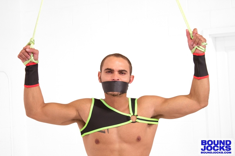 BoundJocks bondage video bdsm Brock Avery hogtied huge boner hung jock big cock porn naked men 001 tube download torrent gallery sexpics photo - Brock Avery