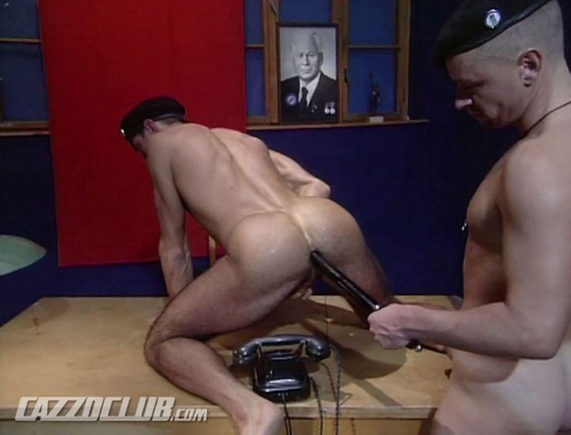 CazzoClub army barracks military horny Lieutenant big cock fucking Major mouth cunt stretched ass gaping hole 001 tube video gay porn gallery sexpics photo - Lieutenant's big cock is fat enough to excite the Major's hungry hole