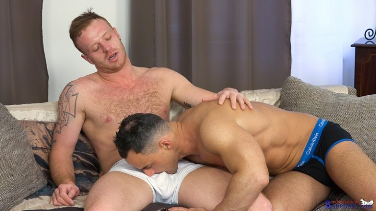 BadPuppy ginger red headed Tom Vojak hottie bottom Martin Porter oral blowjob hairy man hole big dick sucking rimming ass fucking kink 002 gay porn video porno nude movies pics porn star sex photo 768x432 - Gay barebacking Tom Vojak and Martin Porter hardcore ass fuck orgy
