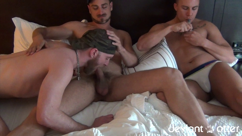 DeviantOtter sweaty raw dick hot sex Leon Eli huge cock boner flip flop fucking raunchy man fuck session sexy young guys rimming 001 gay porn video porno nude movies pics porn star sex photo - Deviant Otter Man Pile raunchy man fuck session instant chemistry between the three of us
