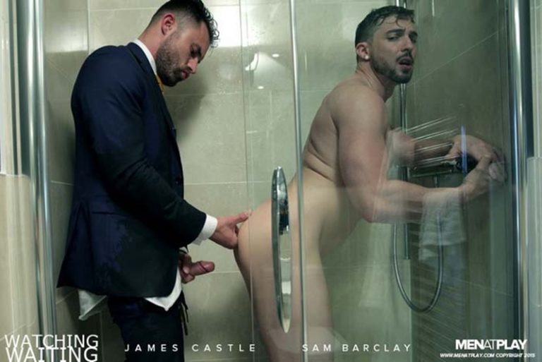 MenatPlay suited muscle hunk James Castle hot muscled dude Sam Barclay naked men hardcore ass fucking cum shower suits huge cock 001 gay porn video porno nude movies pics porn star sex photo 768x513 - Suited muscle hunk James Castle and Sam Barclay hardcore ass fucking in the shower
