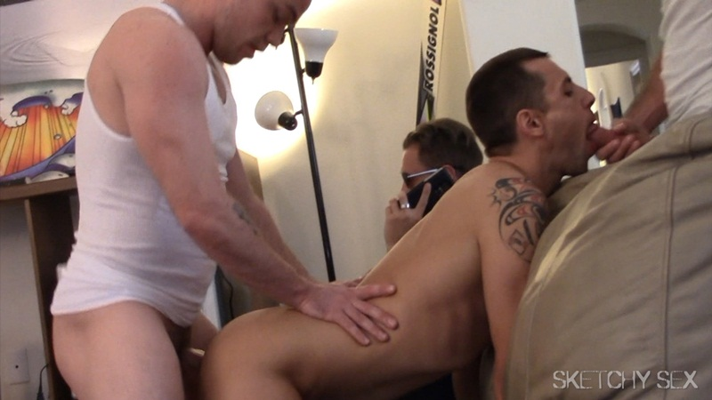 SketchySex huge cock fucks ass hole cum fucking horny bottom bareback cocksucker raw penis orgy condom free gay sex 006 gay porn star gallery video photo - Sketchy Sex hole wide open