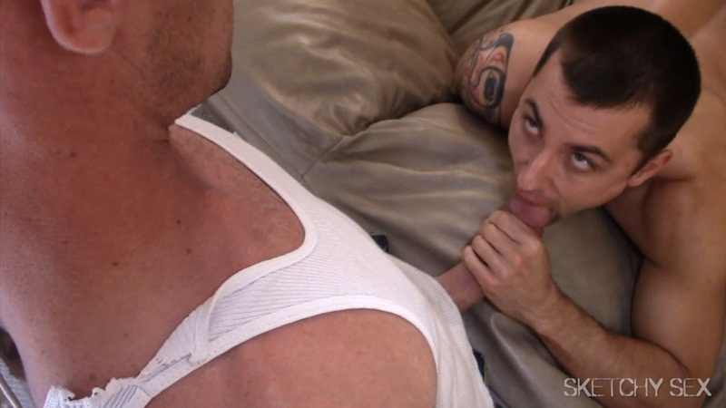 SketchySex huge cock fucks ass hole cum fucking horny bottom bareback cocksucker raw penis orgy condom free gay sex 007 gay porn star gallery video photo - Sketchy Sex hole wide open