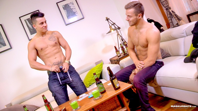 Maskurbate sexy naked men Mike buddy Frank shy horny gorgeous ripped jocks strip naked 01 gay porn star sex video gallery photo - Maskurbate hot duo Mike and buddy Frank jerk off their huge dicks to big cumshots