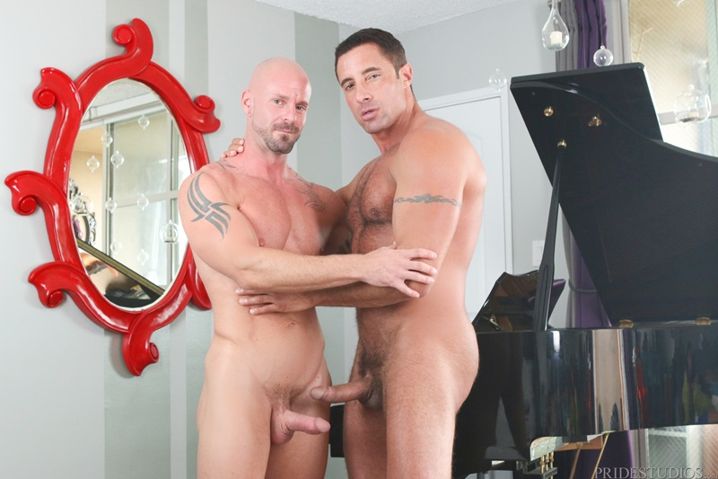DylanLucas big muscle hunks Mitch Vaughn Nick Capra sexy strong man sucking cocks eating hot sweaty studs cum shots cocksucker ass rimmer 01 gay porn star sex video gallery photo - Mitch Vaughn and Nick Capra eating ass and getting hot sweaty and juicy all over it as they fuck and suck
