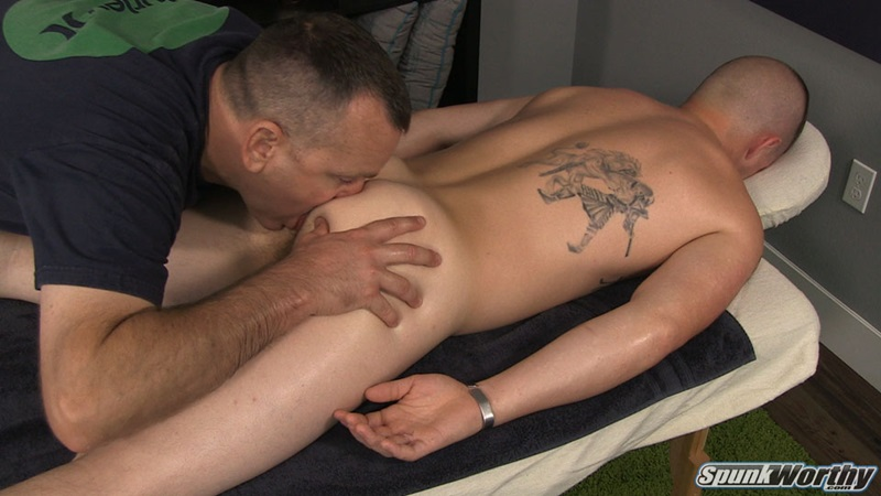 Spunkworthy Landon buzz hair cut massage ass cheeks hairy asshole ass play rimming finger rock hard dick erection abs cumshot jizz explosion 01 gay porn star sex video gallery photo - Straight stud Landon's back for a fingering and ass rimming we never thought he would