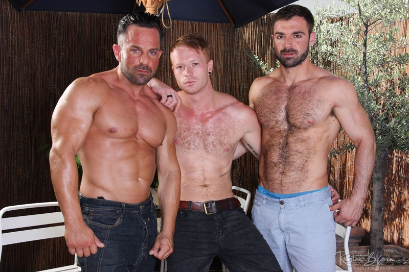 KristenBjorn Alex Brando naked big muscle bodybuilder Jose Quevedo Tom Vojak smooth muscles huge thick long uncut cock sucking heaven hairy ass 001 gay porn tube star gallery video photo - Hardcore bareback butt fucking Tom Vojak, Alex Brando and Jose Quevedo