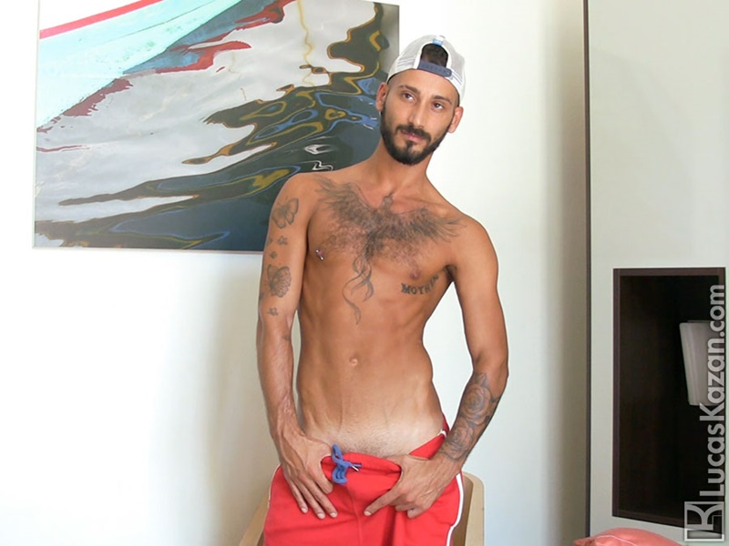 LucasKazan 28 year old Daniele hairy ass cheeks Daniele blowjobs rimming fetish feet orgy group sex tattoos tanned Italian muscle hunk 001 gay porn tube star gallery video photo - Gorgeous ripped Italian muscle hunk Daniele XXX Castings