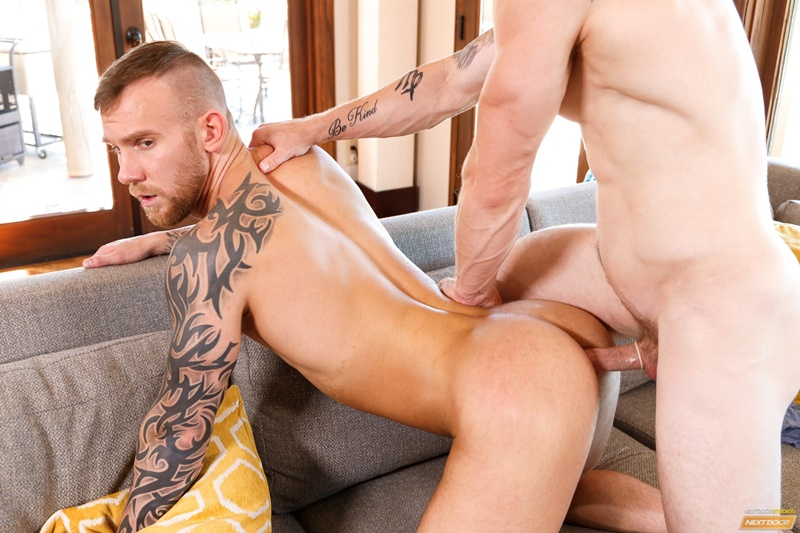 NextDoorCasting Damien Michaels military dude Markie More chiseled six pack abs muscled ass hole fingers rimming cocksucker anal fucking 012 gay porn tube star gallery video photo - Damien Michaels sits all the way down on Markie More's big hard erect cock