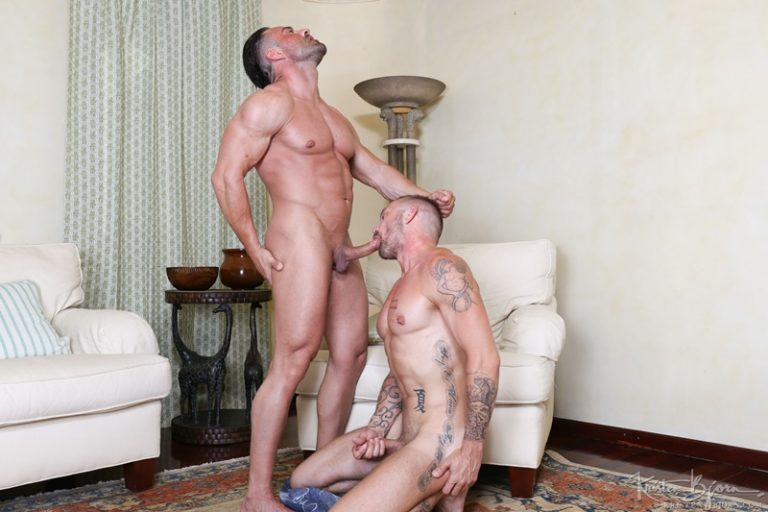 KristenBjorn naked sexy muscle men Alex Brando Stephan Raw bareback ass fucking bare uncut cocks anal rimming assplay muscled hunks 001 gay porn sex gallery pics video photo 768x512 - Alex Brando and Stephan Raw bareback ass fucking