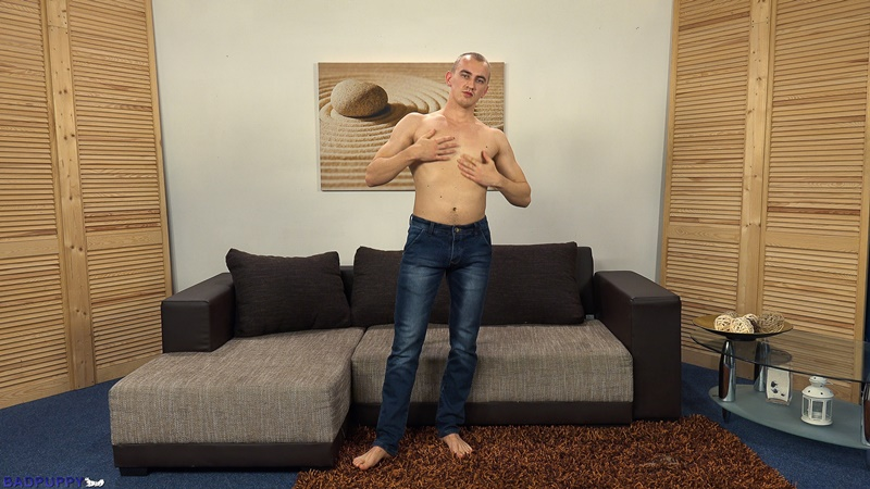 BadPuppy 23 year old naked young boy Oleg Moloda muscles sexy male underwear pubic hair bush hairy ass hole jerking thick uncut cock 001 gay porn sex gallery pics video photo 1 - 23 year old Oleg Moloda jerks his huge uncut cock to a massive cumshot