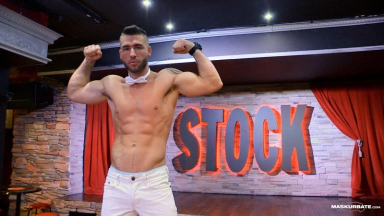 Maskurbate Unmasked live professional male stripper Junior Montreal Stock bar stage muscled body sexy athletic young dude big thick dick 002 gay porn sex gallery pics video photo 768x432 - Maskurbate Junior strips down on Montreal's Stock bar stage