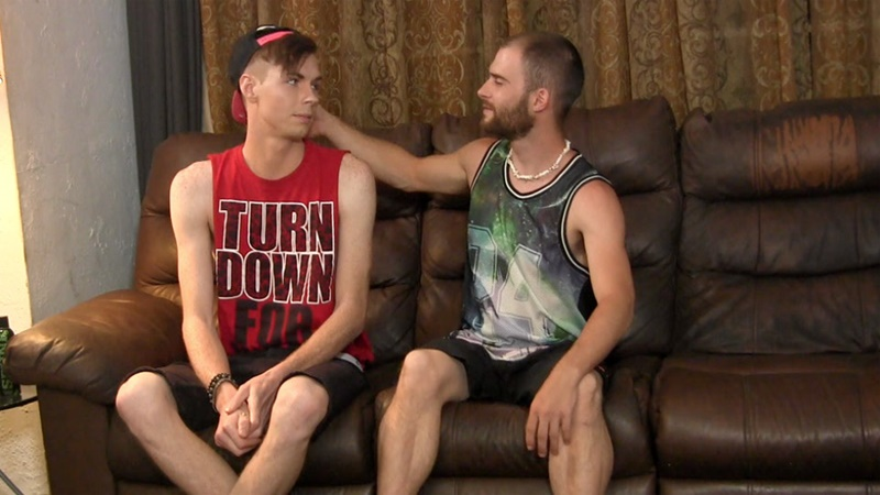 StraightFraternity naked young dudes gay for pay Seamus tall hung twink Clayton sucks huge cock cumshot big load smooth stomach 002 gay porn sex gallery pics video photo - Straight guys Clayton and Seamus suck big dick