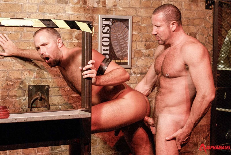 Alphamales booted hairy chest hunks rough men Dane Hyde cocksucker Trojan Rock huge thick cock jockstrap anal assplay rimming 001 gay porn sex gallery pics video photo - Hairy chested hunks Dane Hyde services Trojan Rock's huge thick cock from his zippered jockstrap