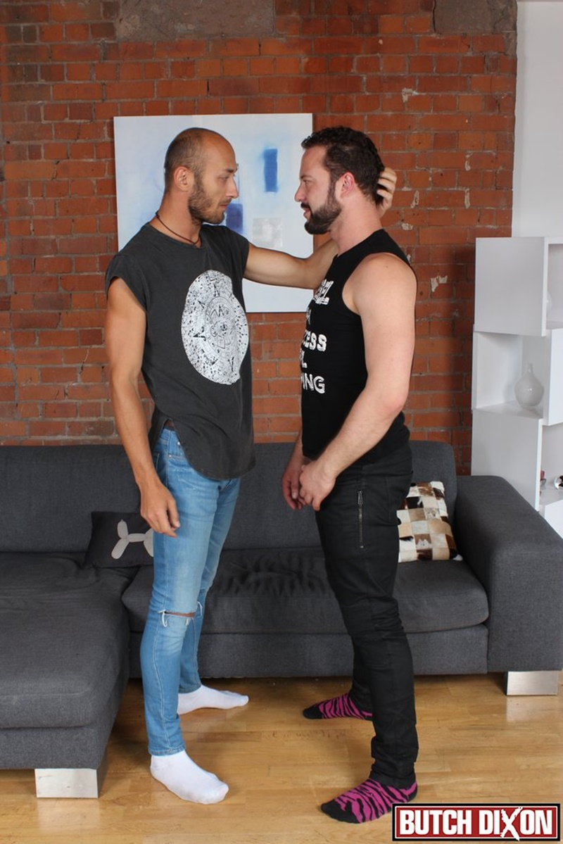 ButchDixon sexy bottom stud Dominic Arrow tight muscular asshole fucked hard Fabio Stone huge uncut italian dick cocksucker anal rimming 002 gay porn sex gallery pics video photo - Dominic Arrow's tight asshole fucked hard and deep by Fabio Stone's huge dick