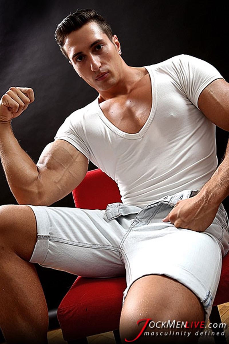 JockMenLive big muscle bodybuilder nude dudes Hot Nicholas huge massive muscled thick dick ripped six pack abs shredded 004 gay porn sex gallery pics video photo - Jock Men Live Hot Nicholas shows off his big muscled body that's why we love him