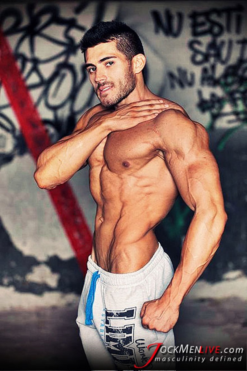JockMenLive jock men live shredded muscle show Johnny Cool massive muscle bodybuilder naked muscleman huge arms lats ripped abs 001 gay porn sex gallery pics video photo - Jock Men Live 26 years old Romanian bodybuilder Johnny Cool ripped shredded big muscle man