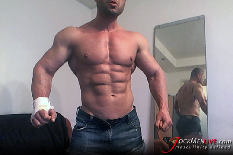 JockMenLive ripped shredded raw massive muscle men Emilio jock men live webcam chat big thick cock sexy bubble butt 004 gay porn sex gallery pics video photo - Jock Men Live ripped abs masculine vascular Emilio shows off the lot and more