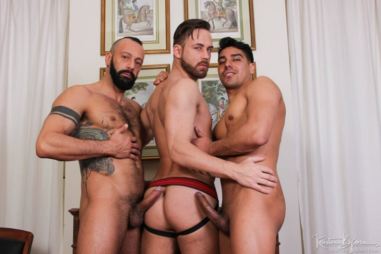KristenBjorn naked big muscle men Salvador Mendoza Alberto Esposito Logan Moorehuge thick european uncut dicks anal rimming raw fucking 002 gay porn sex gallery pics video photo 768x512 - Salvador Mendoza fuck both Alberto Esposito and Logan Moore's hot raw asses