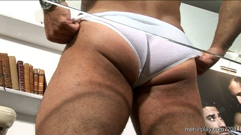 MenatPlay big muscle hunk Gianluigi rock hard muscles stroking nig uncut dick hairy chest solo jerkoff ripped six pack abs 018 gay porn sex gallery pics video photo - Men at Play - One to One with Gianluigi