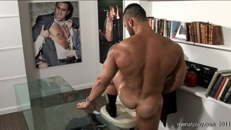 MenatPlay big muscle hunk Gianluigi rock hard muscles stroking nig uncut dick hairy chest solo jerkoff ripped six pack abs 019 gay porn sex gallery pics video photo - Men at Play - One to One with Gianluigi