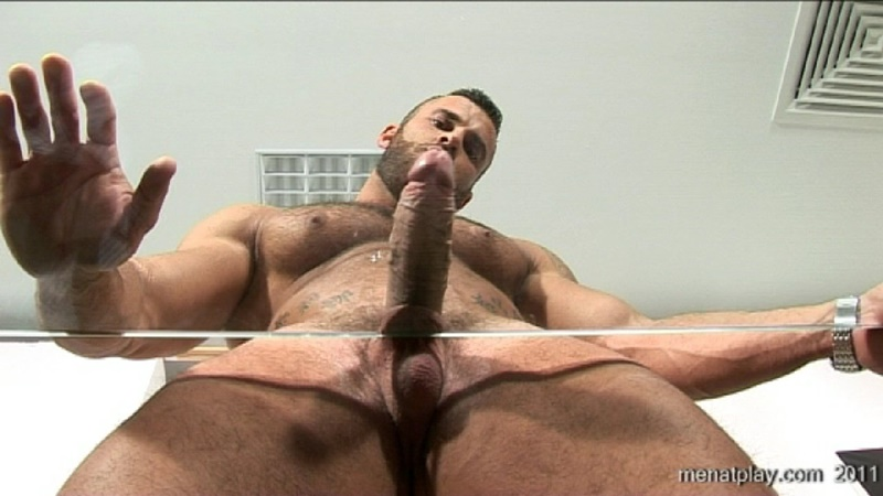 MenatPlay big muscle hunk Gianluigi rock hard muscles stroking nig uncut dick hairy chest solo jerkoff ripped six pack abs 021 gay porn sex gallery pics video photo - Men at Play - One to One with Gianluigi