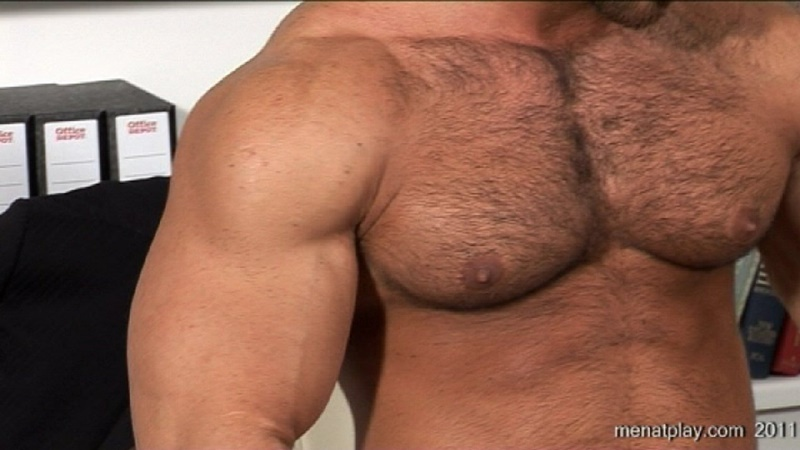 MenatPlay big muscle hunk Gianluigi rock hard muscles stroking nig uncut dick hairy chest solo jerkoff ripped six pack abs 022 gay porn sex gallery pics video photo - Men at Play - One to One with Gianluigi
