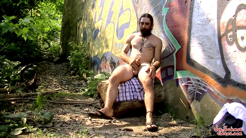 JoeSchmoeVideos sexy naked big daddy dude Squirell jerking thick long dick wank mature older men hairy chest hunk 001 gay porn sex gallery pics video photo - Joe Schmoe Videos Squirell rubs his cock stroking his hairy meat until his cum is ready to blow