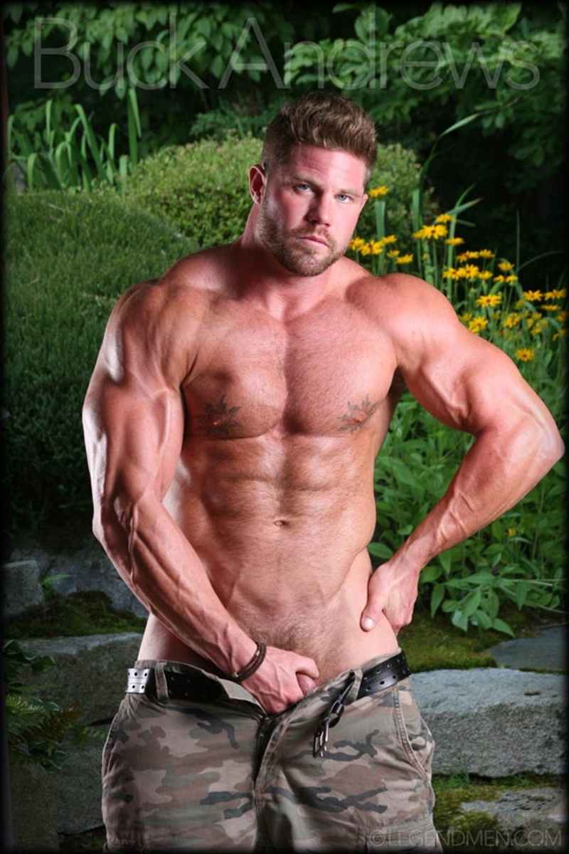 LegendMen sexy naked big muscle hunk Buck Andrews stripped jerks huge muscle dick hairy chest massive muscled dude bodybuilder 001 gay porn sex gallery pics video photo - Legend Men sexy naked big muscle hunk Buck Andrews stripped and jerks his huge muscle dick