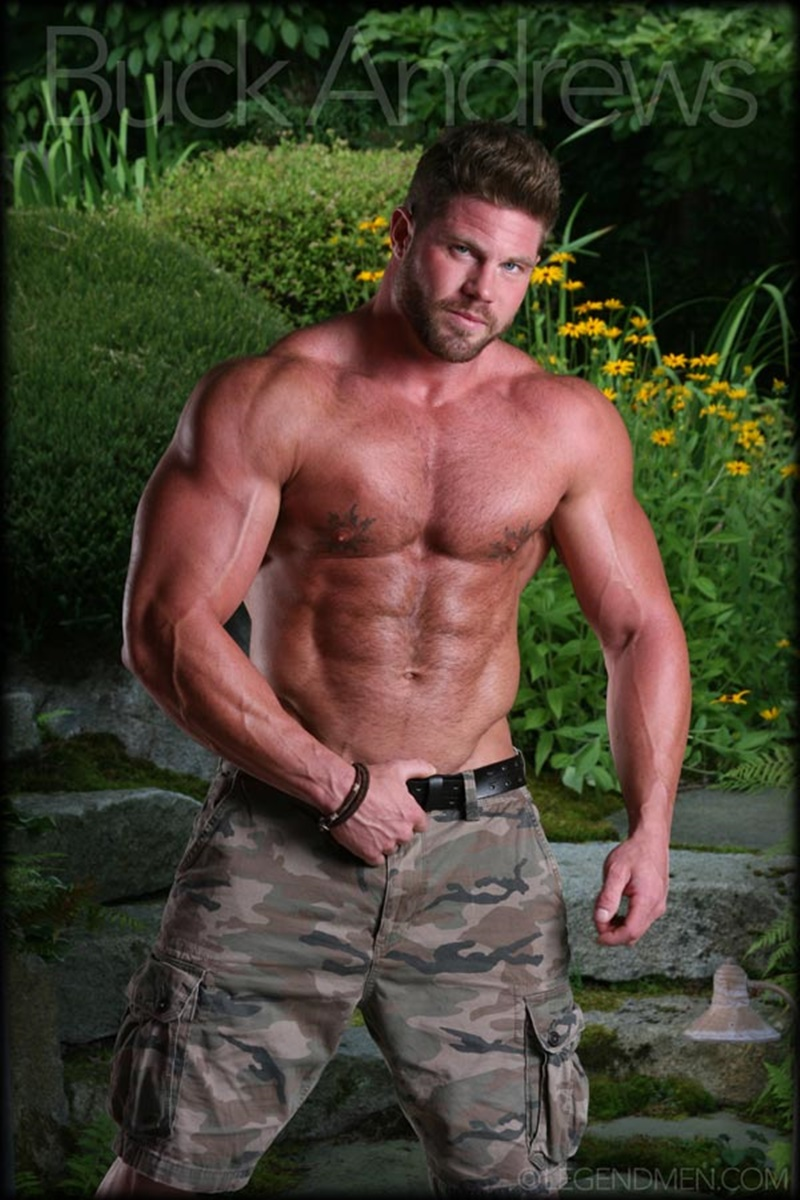 LegendMen sexy naked big muscle hunk Buck Andrews stripped jerks huge muscle dick hairy chest massive muscled dude bodybuilder 002 gay porn sex gallery pics video photo - Legend Men sexy naked big muscle hunk Buck Andrews stripped and jerks his huge muscle dick