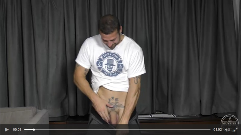 TheGuySite sexy tattooed naked muscle hunk Derek Thibeau jerks long thick dick cumshot tattoo muscled stud ripped six pack abs 006 gay porn sex gallery pics video photo - The Guy Site sexy tattooed muscle hunk Derek Thibeau jerks his long thick dick
