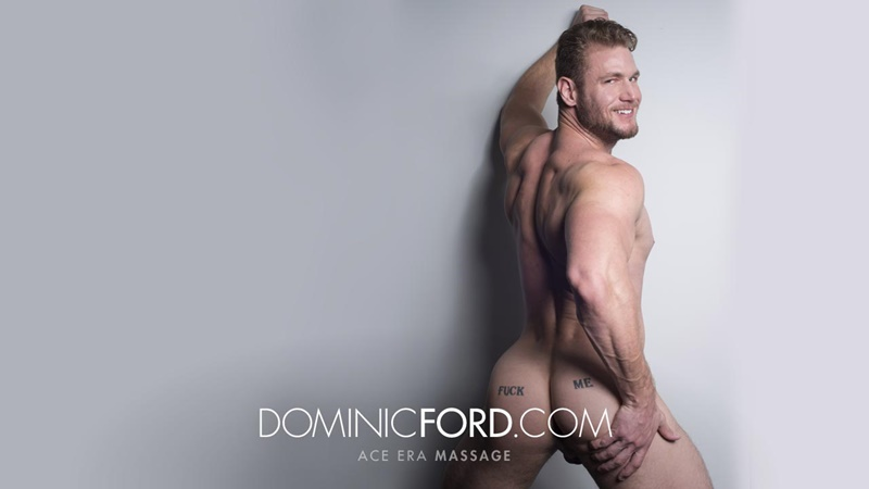 DominicFord sexy naked young muscle ripped dude Ace Era massage big thick large cock huge jizz cumshot six pack abs hairy beard 001 gay porn sex gallery pics video photo - Dominic Ford it ends with Ace Era's exploding cum shot all over his chiseled abs